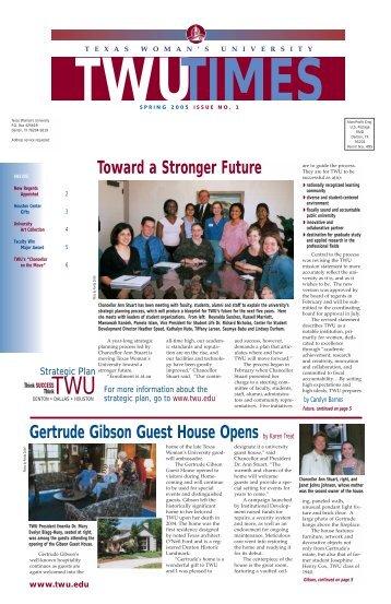 Spring 2005 - Texas Woman's University