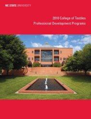2010 College - College of Textiles - North Carolina State University