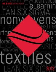 textiles - College of Textiles - North Carolina State University