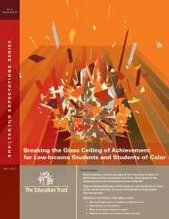 Breaking the Glass Ceiling of Achievement for Low-Income Students ...