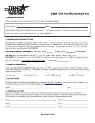 2010 TCSA New Membership Form - Texas Charter Schools ...