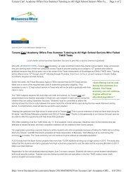 of 2 Texans Can! Academy Offers - Texas Charter Schools Association