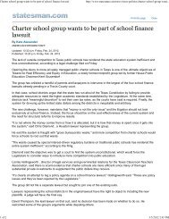 Charter school group wants to be part of school finance lawsuit