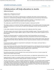 Collaboration will help education in Austin - Texas Charter Schools ...