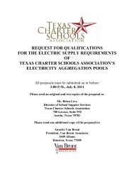 request for qualifications for the electric supply - Texas Charter ...