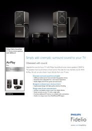CSS9216/12 Philips 2.1 Home cinema speakers with 360sound