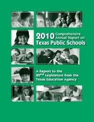 2010 Comprehensive Annual Report on Texas Public Schools