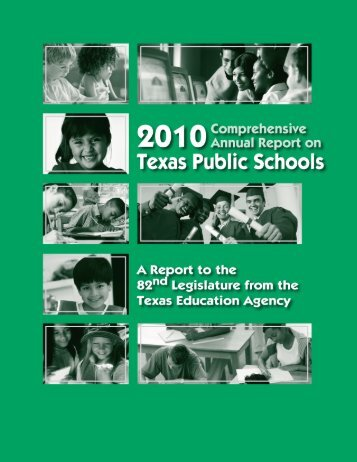 2010 Comprehensive Annual Report on Texas Public Schools