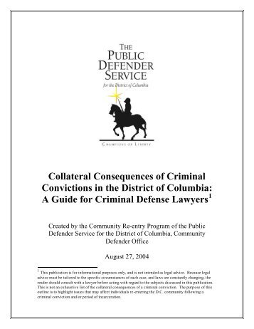 consequences of a criminal conviction essay Receiving a criminal conviction will change your life, period and, it can happen to almost anyone let's face it: a lot people commit a crime at some point in their lives.