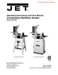 Combination Belt/Disc Sander - JET Tools