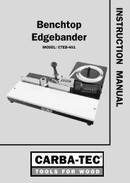 Benchtop Edgebander - Carba-Tec