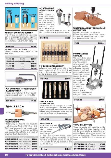 Plug Cutter Tenon Maker 1//2 Inch Shank 15mm 3//5-Inch Diameter