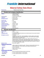Download the MSDs - Titebond Glues and Adhesives