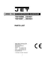 JWBS-18Q WOODWORKING BANDSAW 708750BM ... - Carba-Tec