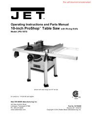 Operating Instructions and Parts Manual - Home Depot