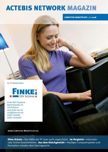 Actebis Network Magazin als PDF - Finke EDV Systeme