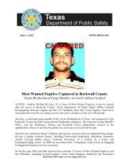 Most Wanted Fugitive Captured in Rockwall County Aryan - Texas ...