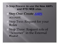 AMPS-RTD Web System