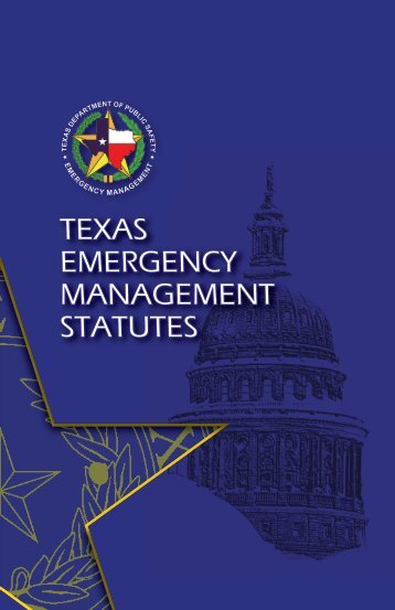 texas emergency management statutes - Texas Department of ...