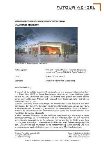 Tropark Troisdorf Gmbh - Wenzel-Consulting Aktiengesellschaft
