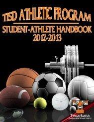 Athletic Handbook - Texarkana Independent School District