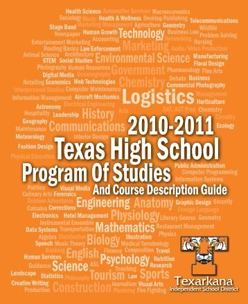 Texas High Course Guide - Texarkana Independent School District