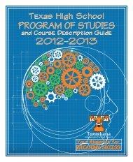 Texas High School Program of Studies & Course Description Guide