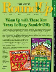 cont'd on page 2 - Texas Lottery