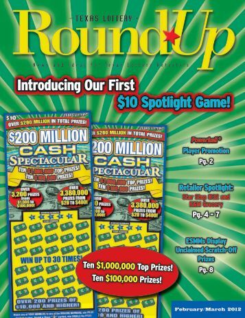 February/March 2012 - Texas Lottery