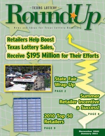 December 2010-January 2011 - Texas Lottery