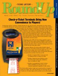 Check-a-Ticket Terminals Bring New Convenience to ... - Texas Lottery