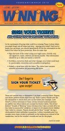 Sign Your Ticket! - Texas Lottery