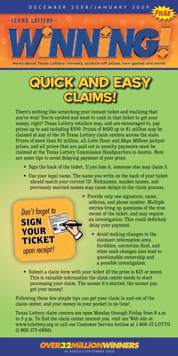 Quick and easy - Texas Lottery