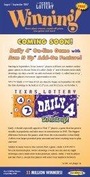 August | September - Texas Lottery