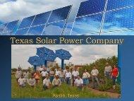 Solar 101 (PDF) - Texas Solar Power Company