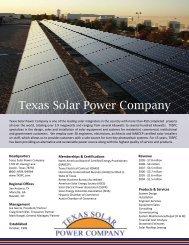 TXSPC General InfoMY VERSION.PUB - Texas Solar Power Company