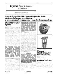 Tryskacze serii TY-FRB - Tyco Fire Products