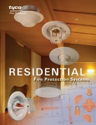 Residential Concealed Pendent Sprinklers - Tyco Fire Products