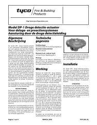 Model DP-1 Droge detectie-actuator Voor deluge - Tyco Fire Products