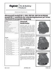 Alarmventil modell AV-1-300, DN100, DN150 & DN200 modell RC-1 ...