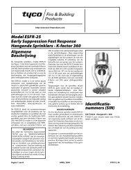Model ESFR-25 Early Suppression Fast Response Hangende ...