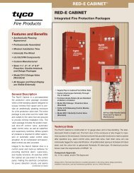 RED-E CABINET® - Tyco Fire Products