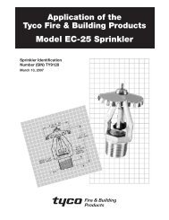 Model EC-25 Sprinkler - Tyco Fire Products