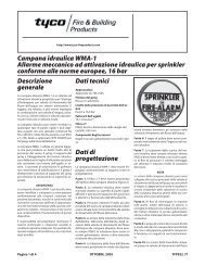 Campana idraulica WMA-1 Allarme meccanico ad attivazione ...