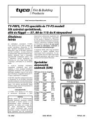 TY-FRFS, TY-FS speciális és TY-FS modell Sík szórású sprinklerek ...