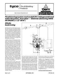 Föraktiveringssystem med modell DV-5 delugeventil med - Tyco Fire ...