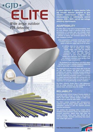 Gjd gjd310 video motion detectors product datasheet gjd elite wide angle outdoor pir detector datasheet cheapraybanclubmaster Gallery
