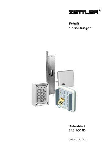 916.1001D Schalteinrichtungen - Tyco EMEA / ADT Worldwide ...