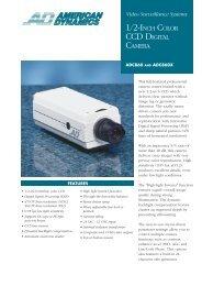 ADC860 & ADC860X 1/2 Inch Colour CCD Camera