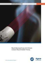 Rauchüberwachung mit Infrarot Lineare Rauchmelder Fireray